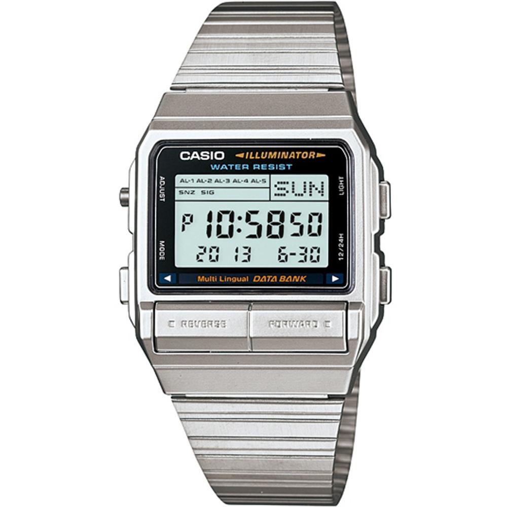 CASIO DATABANK 電話記錄經典商務數位錶(DB-380-1D)-39.6mm