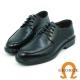 GEORGE 喬治-氣墊系列-牛皮圓頭立體寬楦紳士鞋-黑色 product thumbnail 1