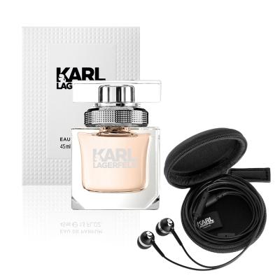 KARL LAGERFELD 卡爾同名時尚女性淡香精45ml(贈品牌耳機組)