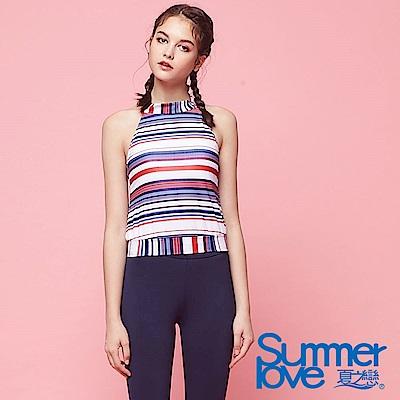 夏之戀SUMMER LOVE 大女條紋短版二件式
