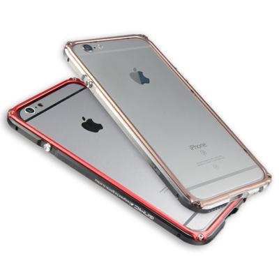 GINMIC 傳奇系列IPHONE6S(4.7)限量雙色鋁合金邊框+透明背板