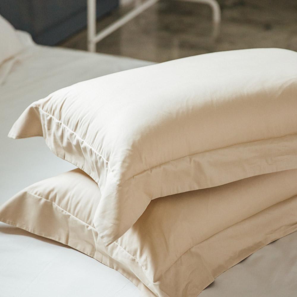 LAMINA 純色-卡布奇諾 精梳棉枕頭套-2入 @ Y!購物