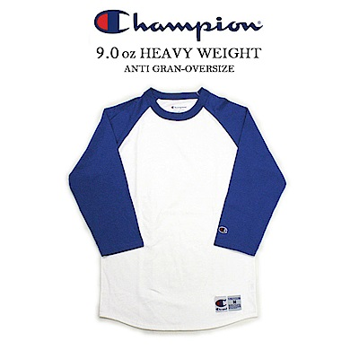 冠軍CHAMPION RAGLAN BASEBALL棒球斜肩七分袖