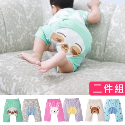 baby童衣 動物印花鬆緊屁屁褲兩件組 60318