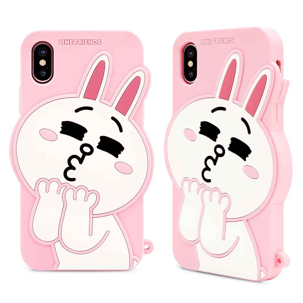 GARMMA LINE Friends  iPhone X-立體矽膠果凍套 product image 1