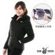 【遊遍天下】女款顯瘦JIS90%羽絨防風防潑水極暖羽絨外套G0321黑色 product thumbnail 1