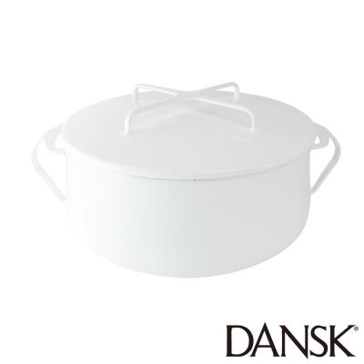 丹麥DANSK-琺瑯雙耳湯鍋18-5CM-典雅白