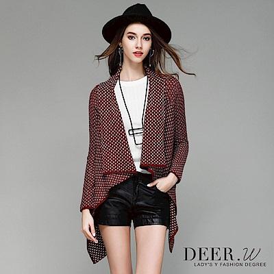 DEER.W 配色混織罩衫外套(共兩色)