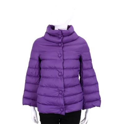 ARMANI COLLEZIONI 紫色立領車縫設計羽絨外套