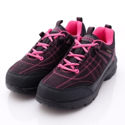 日本DUNLOP機能健走鞋-3E寬楦435-B2黑粉紅-女段