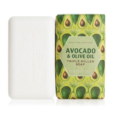Crabtree & Evelyn瑰珀翠 酪梨&橄欖油柔嫩皂158g
