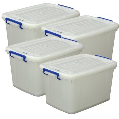 儲水新利器-加厚版儲水收納多功滑輪箱四入(48L)