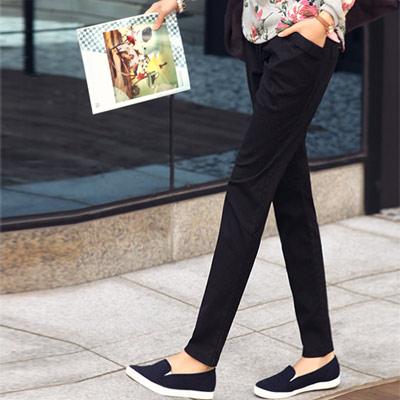 正韓-反摺口袋造型顯瘦休閒褲-共四色-N-C21