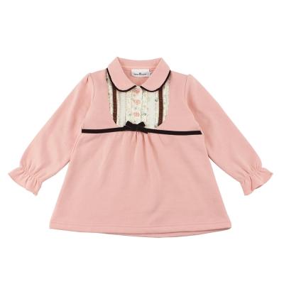 愛的世界 pappa&ciccia 淑女領半開襟長袖上衣/2~4歲