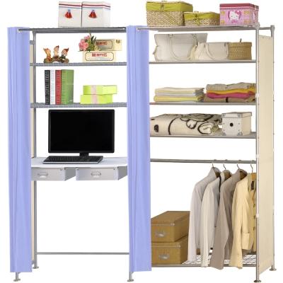 巴塞隆納-W5型90公分+E90公分電腦桌衣櫥架