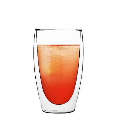 FUSHIMA日系雙層耐熱玻璃杯460ML
