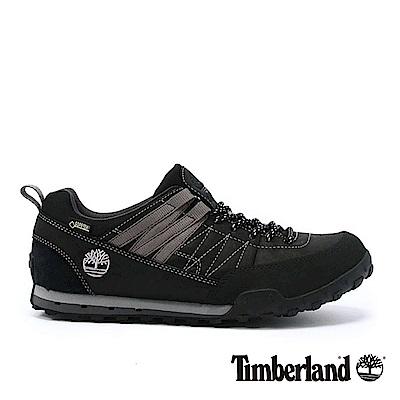 Timberland 男款黑色線條拼色休閒鞋