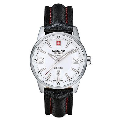 阿爾卑斯 S.A.M -獨家限定-飛翼系列-白色錶盤/黑色皮帶/35mm