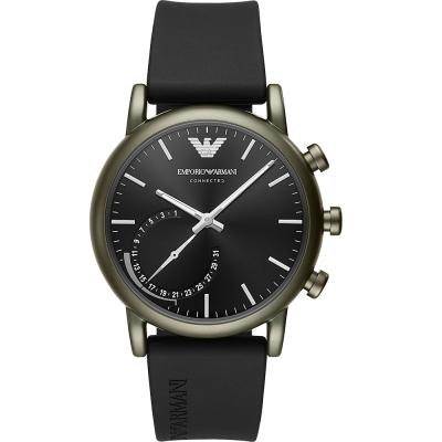 EmporioArmaniCONNECTED亞曼尼智慧型手機連線手錶-黑/43mm