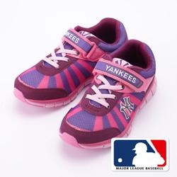 MLB大聯盟洋基2015新品。避震氣墊運動童鞋款紫