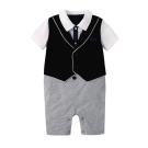 baby童衣 短袖紳士背心假三件連身衣 60356