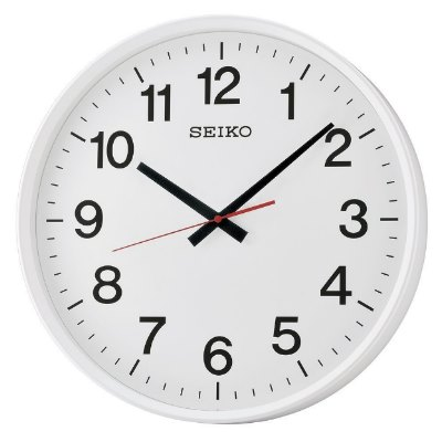 SEIKO 日本精工 大型辦公室掛鐘 標準鍾(QXA700W)白/42cm