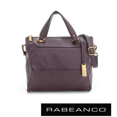 RABEANCO-OL-時尚粉領系列菱形包-中-深紫