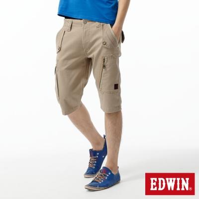 EDWIN存在主義-503-KHAKI-拉鍊短褲-男款-灰卡其