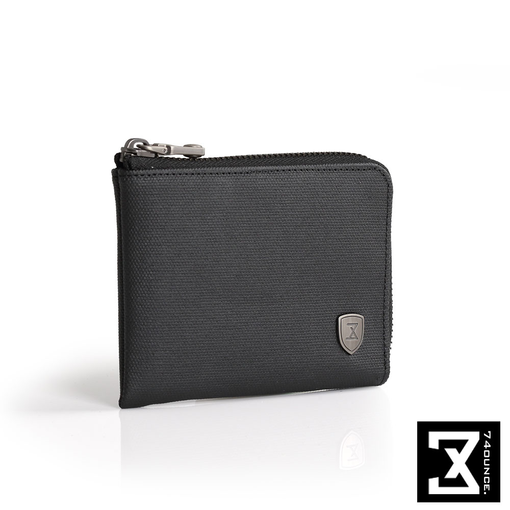 74盎司 FIT 時尚L型零錢包[N-507]黑