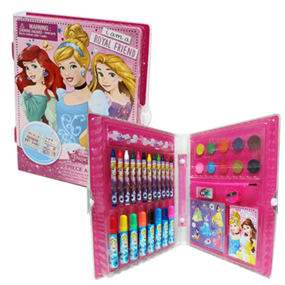 派對盒 PartyBox 迪士尼公主彩繪文具組(內含蠟筆、水彩、便條紙等)