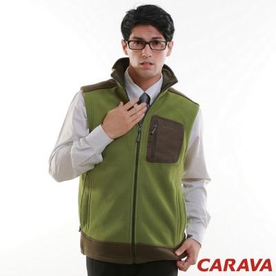CARAVA《男款刷毛背心》(草綠)