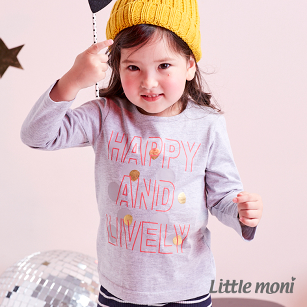 Little moni HAPPY LIVELY印圖上衣  共2色
