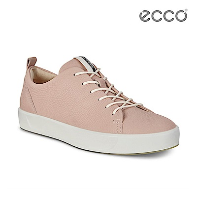 ECCO SOFT 8 LADIES 簡約休閒鞋-粉