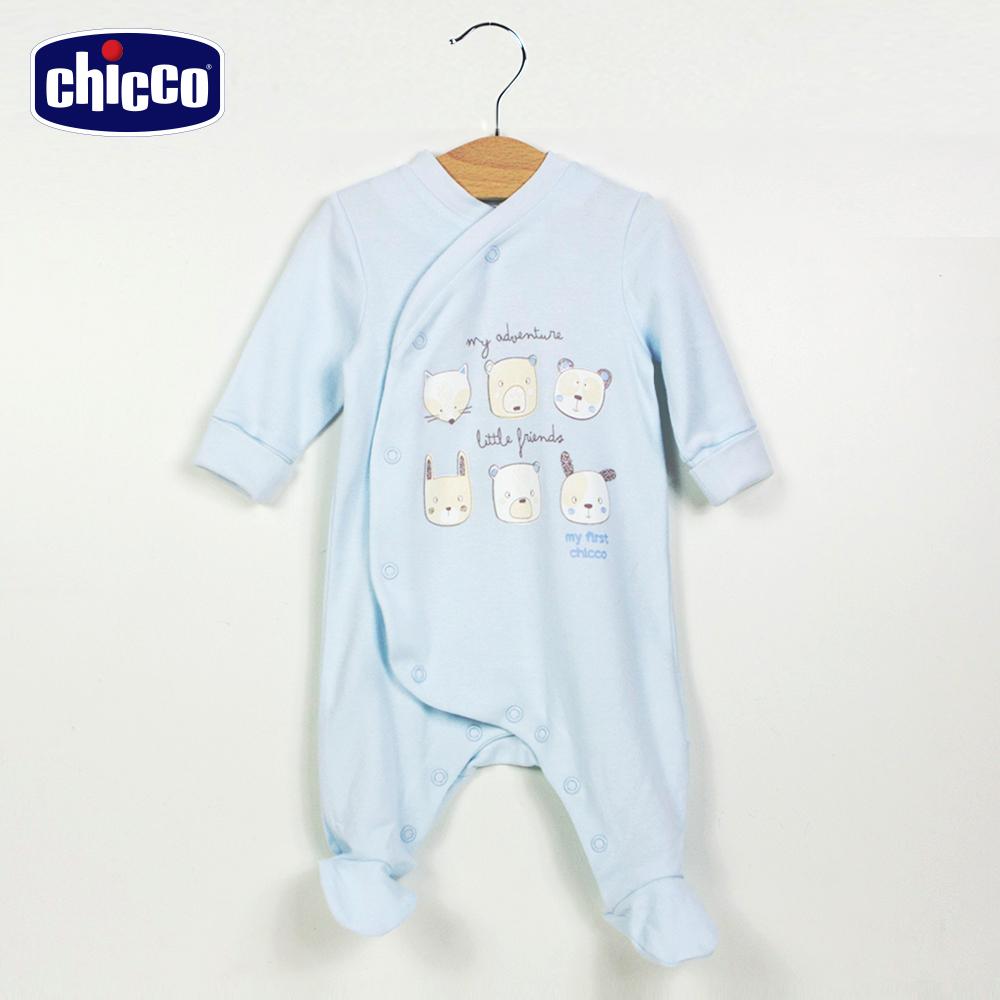 chicco粉彩動物朋友前開兔裝-藍(3-12個月)