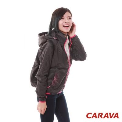 CARAVA 女款防曬透氣風衣(深灰)