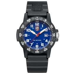 LUMINOX 雷明時SEA TURTLE 0320海龜系列腕錶-藍x白時標/44mm