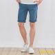 BOFOX 抓皺刷色休閒短褲-淺藍 product thumbnail 1
