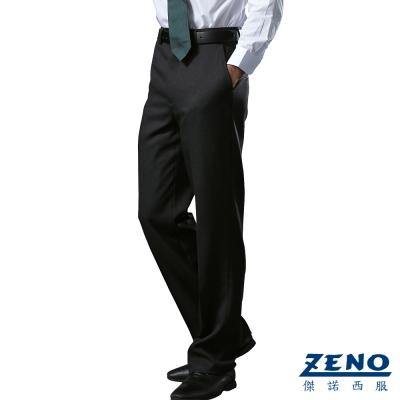 ZENO 經典內刷毛保暖平面西裝褲‧灰色31~42
