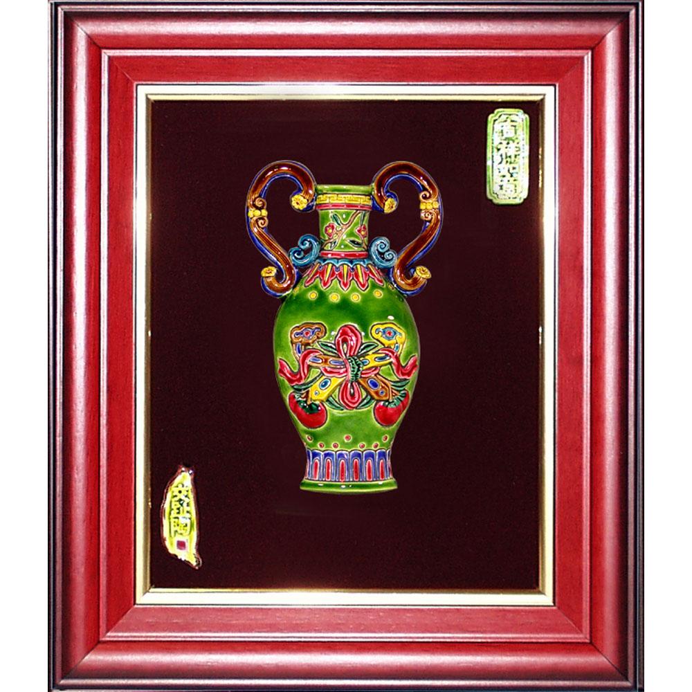鹿港窯-交趾陶裝飾壁畫-平安如意(M)