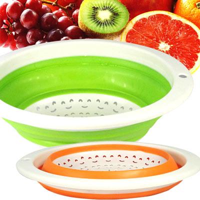 【WEPON】摺疊式蔬果(瀝水)籃超值2入