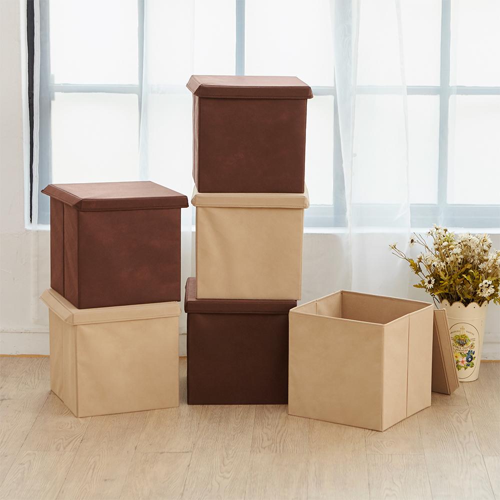 IKLOO宜酷屋_可折疊不織布收納箱/收納盒(3入組)