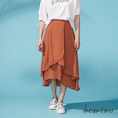 beartwo 層次變化飄逸長版片裙(二色)