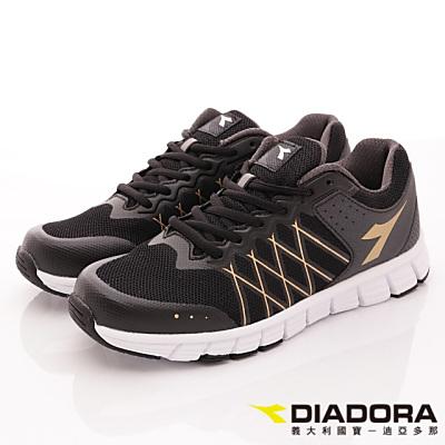 DIADORA-乳膠動能慢跑鞋款-RFI180黑(男段)