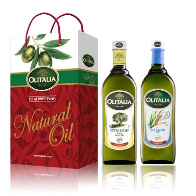 Olitalia奧利塔精製橄欖油-玄米油禮盒組-1