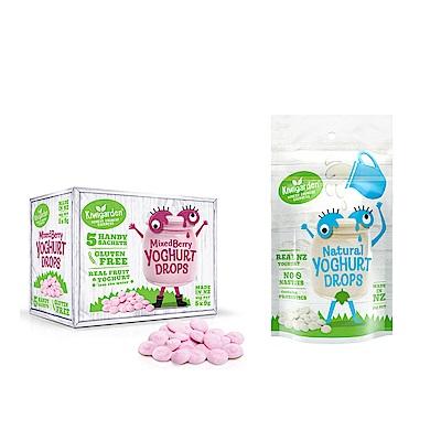 【紐西蘭 Kiwigarden】益菌優格豆 綜合莓果+原味 2盒組(莓果1盒+原味1袋)