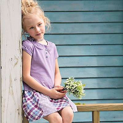 PIPPY 裙襬剪接洋裝 紫