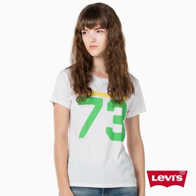 T恤 女裝 短袖純棉TEE 數字印花 - Levis