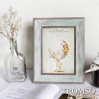 TROMSO麋鹿森林典藏木紋5X7相框-灰綠木