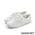 HANNFORT CALIFORNIA蕾絲布氣墊休閒鞋-女-純淨白8H