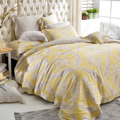 義大利La Belle 加大天絲防蹣抗菌吸濕排汗兩用被床罩組-皇室香榭